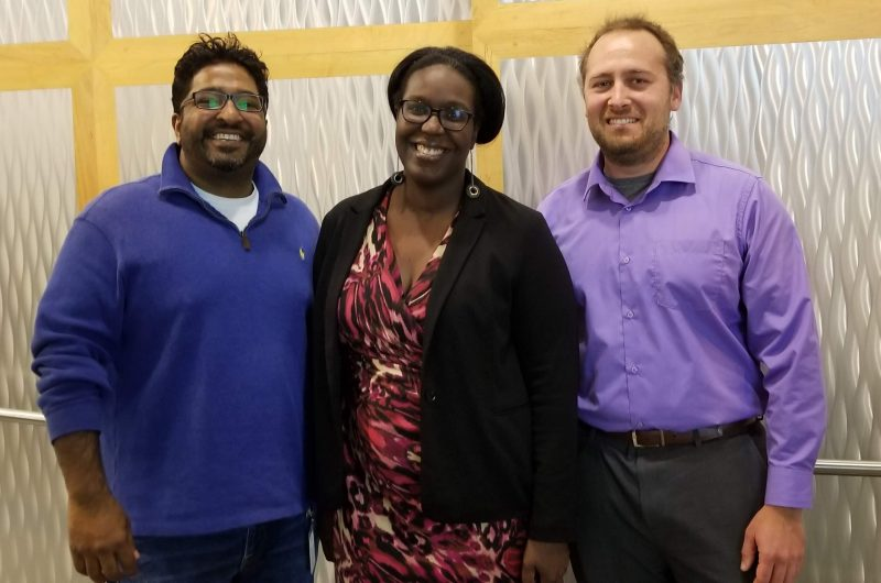 GBCB alum: Robin Varghese, Shernita Lee, and Matthew Lux
